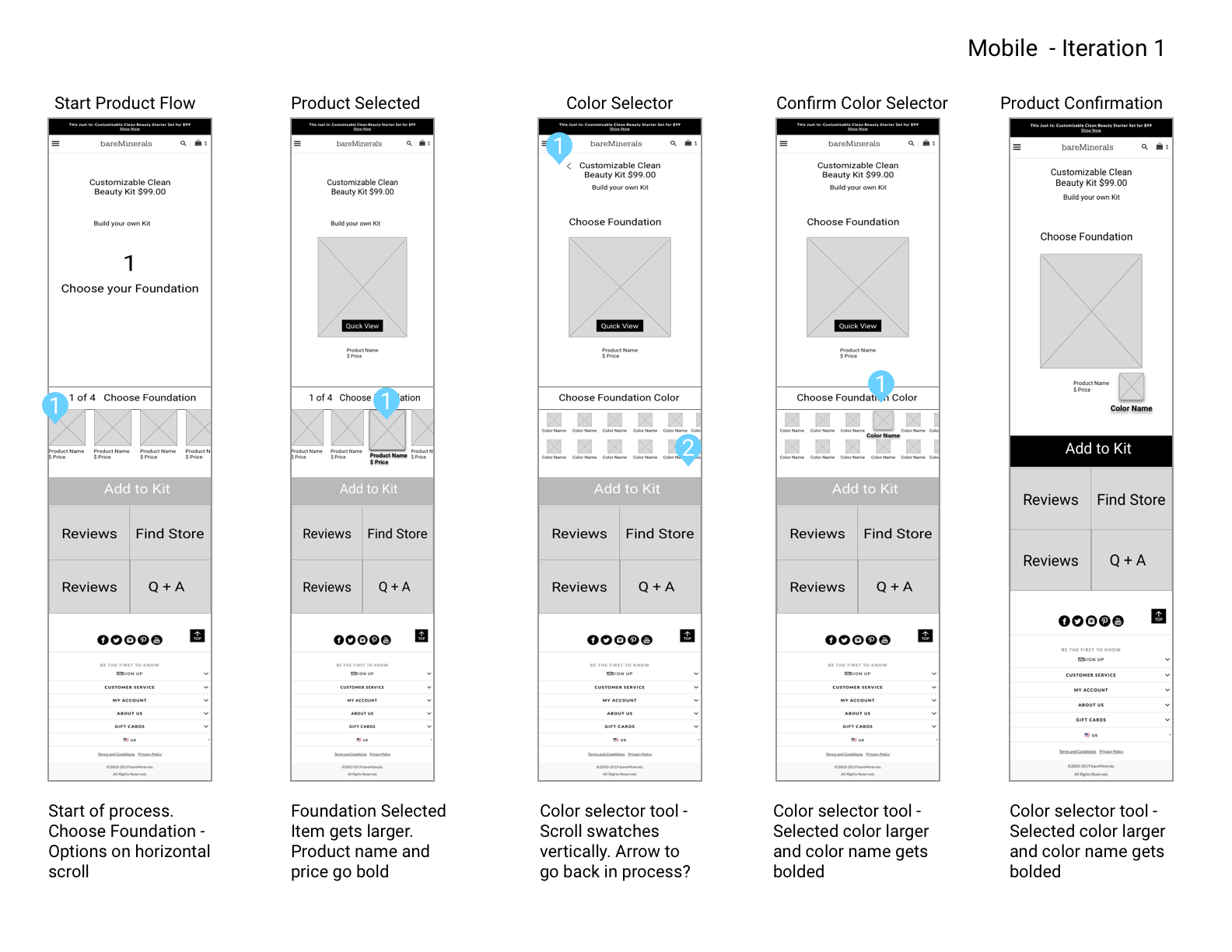 Mobile Wireframes – Iteration1